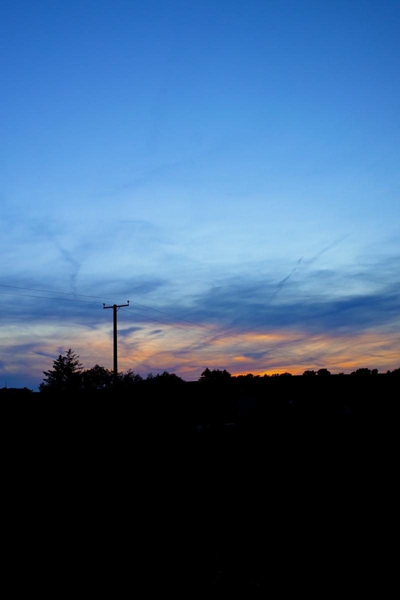 Telegraph pole sunset