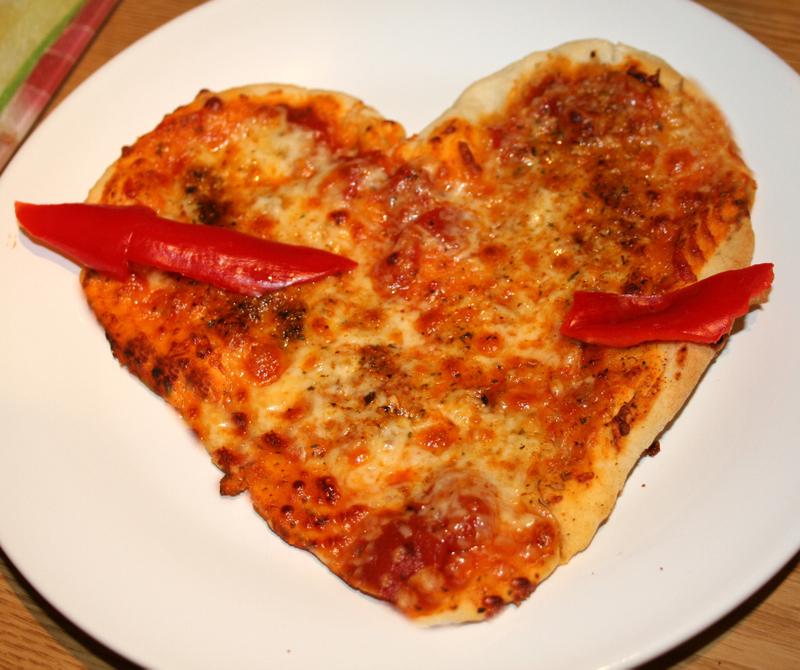 Heartshapedpizzas